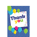 Thank you cards - Blue Spot - Small