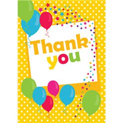 Thank you cards - Yellow Spot - Medium