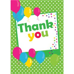 Thank you cards - Green Spot - Small