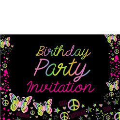 Invitation cards - Neon Doodle - Small