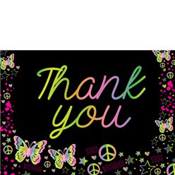 Thank you cards - Neon Doodle - Small