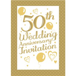 Invitation cards - 50th Wedding Anniversary - Medium