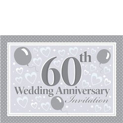 Invitation cards - 60th Wedding Anniversary - Small
