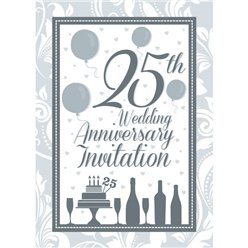 Invitation cards - 25th Wedding Anniversary - Medium