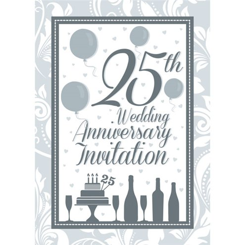 Invitation Cards 25th Wedding Anniversary Medium