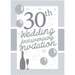 Invitation cards - 30th Wedding Anniversary - Small