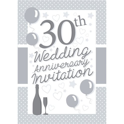 Invitation Cards 30th Wedding Anniversary Small Party Delights