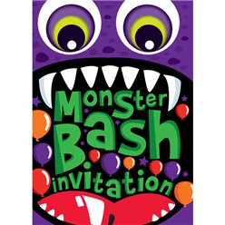 Halloween Monster Bash Invitations - Small