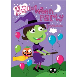 Halloween Witch Invitations - Small