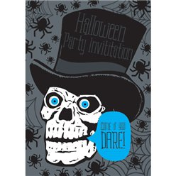 Halloween Skull Invitations - Medium