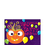 Halloween Pumpkin Party Invitations - Small