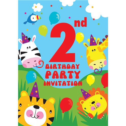 2nd birthday party invites small party delights