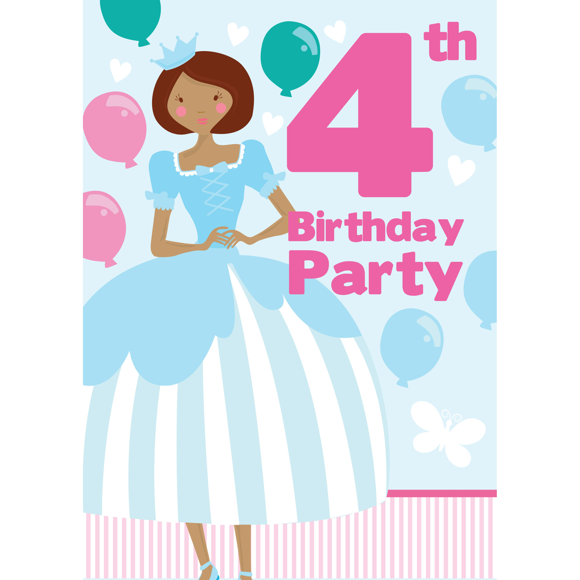 4th Birthday Party Invites