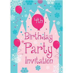 4th Birthday Party Invites