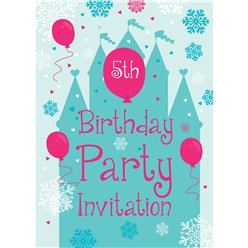 5th Birthday Party Invites - Small