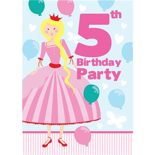 5th Birthday Party Invites