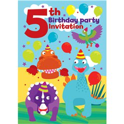 5th Birthday Party Invites - Medium