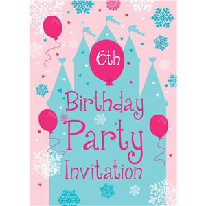 6th Birthday Party Invites - Small