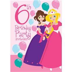 6th Birthday Party Invites