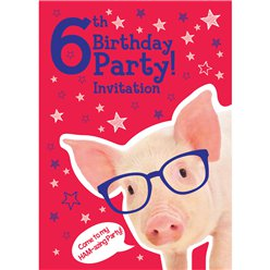 6th Birthday Party Invites - Medium