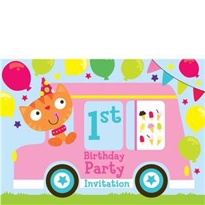 1st Birthday Party Invites - Medium