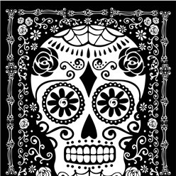 Day of the Dead Invites - Medium