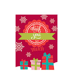 Christmas Thank You Cards - Small