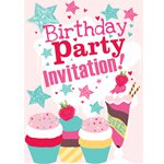Cupcakes Invitation Cards - Medium