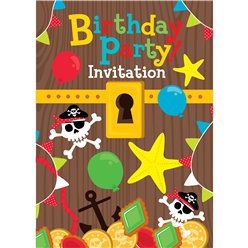 Treasure Chest Invitation Cards  - Small