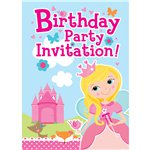 princess party invitations party delights