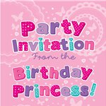 Birthday Princess Invitation Cards - Small