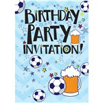 Beer and Football Invitation Cards - Small
