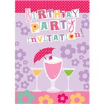 Cocktails Birthday Invitation Cards - Medium