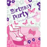 Night Out Birthday Invitation  Cards - Small