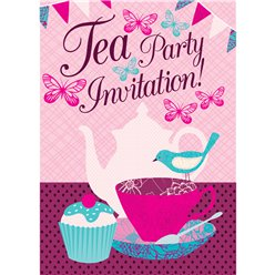 Tea Party Invitation  Cards - Small