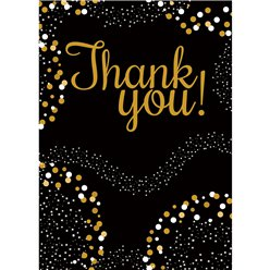 Gold Thank You Cards - Medium