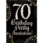 70th Birthday Invitations Party Delights