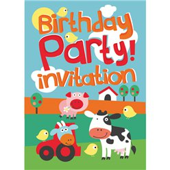 Farm Fun Invitation Cards - Small