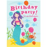 Birthday Mermaid Invites - Small