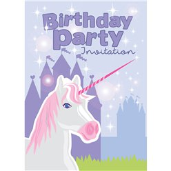 Birthday Unicorn Invites - Medium (75p each)