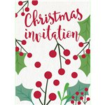 Holly Invitation Cards - Medium