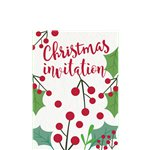 Holly Invitation Cards - Small