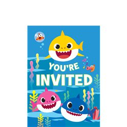 Baby Shark Invitations - Small