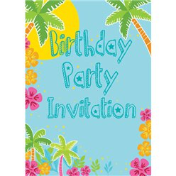 Birthday Invitation cards Summer Scene - Small