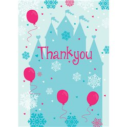 Thank you cards Snowflake Castle - Small