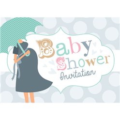 Baby Shower Invitation cards Umbrella Spot - Small