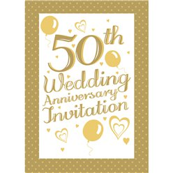 Invitation cards - 50th Wedding Anniversary - Small