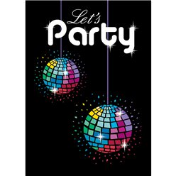 70s Themed Party Invitation Cards - Small