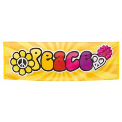 Hippie 'Peace' Giant Banner - 2.2m