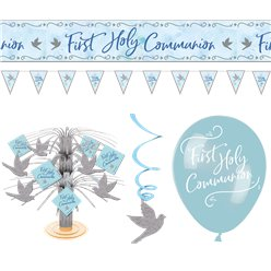Blue First Communion Room Decorating Kit